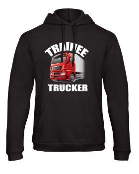 Z -Trainee trucker truck lorry HGV driver black kids children hoodie pullover