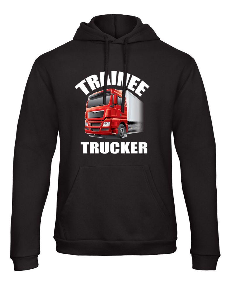 Z -Trainee trucker truck lorry HGV driver black kids children hoodie pullov