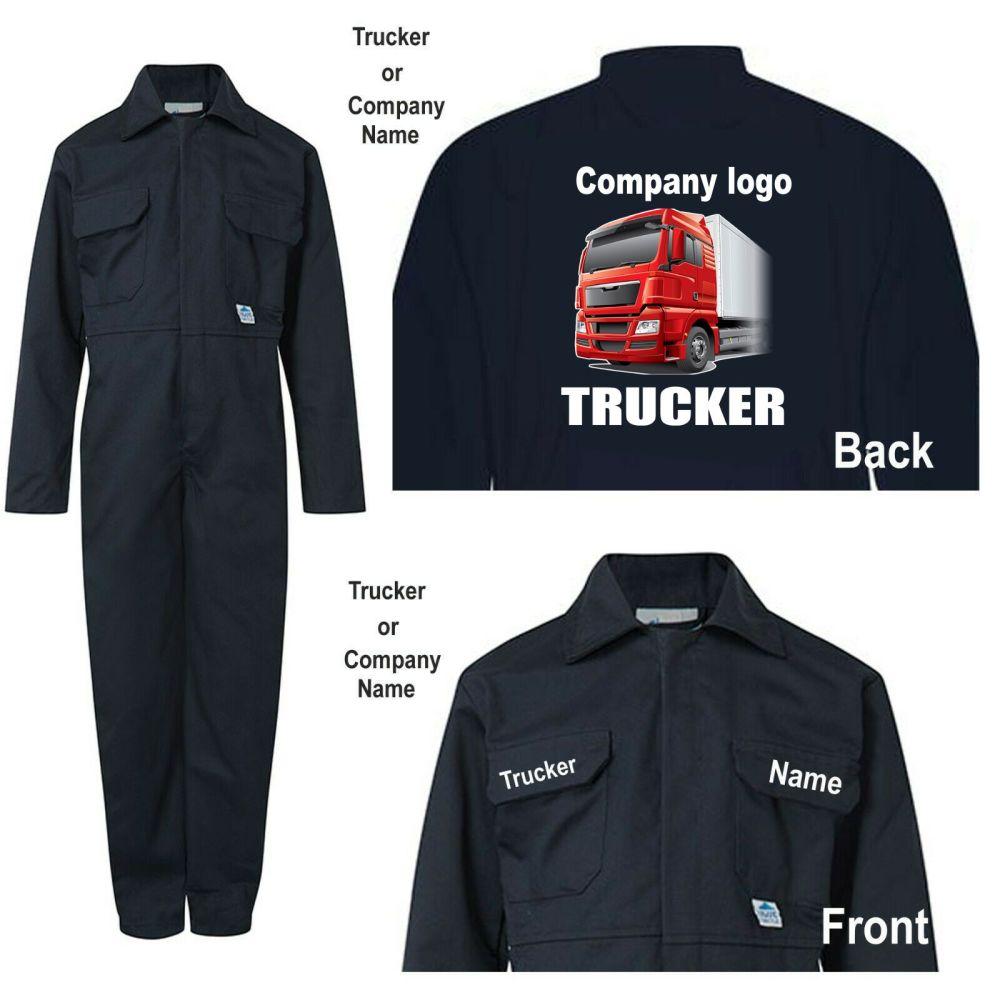 Kids children boiler suit overalls coveralls customise trucker haulage comp