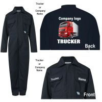Kids children boiler suit overalls coveralls customise trucker haulage company