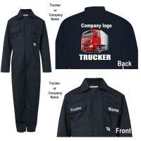 Kids children boiler suit overalls coveralls customise trucker haulage company