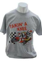 AA- Takin' a knee Retro 2 stroke Design  mens T-shirt Tee grey