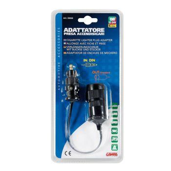 Din aux power plug standard DIN Hella socket adapter 12v 24v