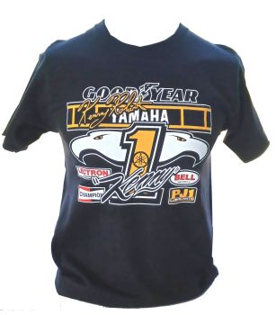 A- Kenny Roberts Yamaha Retro Logo  Design mens T-shirt Tee black