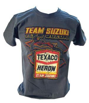 A - Heron Suzuki Racing 80's Retro Design unisex T-shirt Tee grey