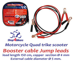 MOTORCYCLE QUAD SCOOTER BOOSTER CABLE JUMP LEADS