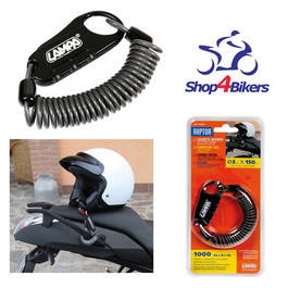 Motorcycle motorbike cycle helmet combination lock & cable