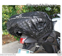 Motorcycle trike cruiser quad x large 65 x 35 cm cargo net black 6 strong hooks