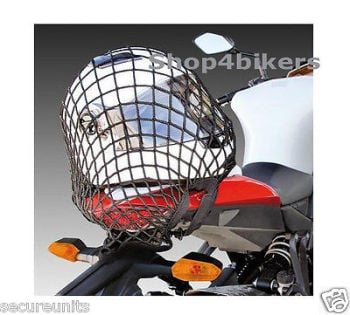 Motorcycle trike cruiser quad large 42 x 42 cm cargo net black 6 strong hooks