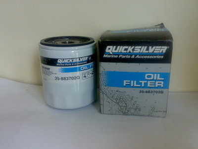 Quicksilver 35-883702Q oil filter Mercruiser GM V6 + others
