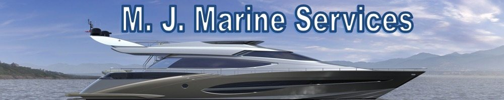 M. J. Marine Services, site logo.
