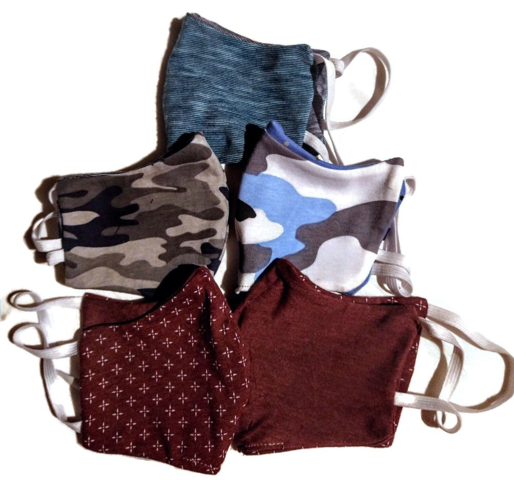5 Tweed Queen Facemasks -Chaps  Mixed Pack