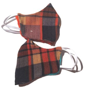 5  Tweed Queen  Facemasks - Bright Plaid