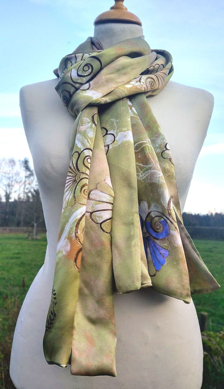 Aphrodite silk scarf wrap