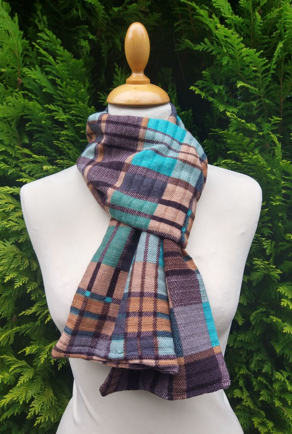 Perfect Plaid Scarf  - sand bank
