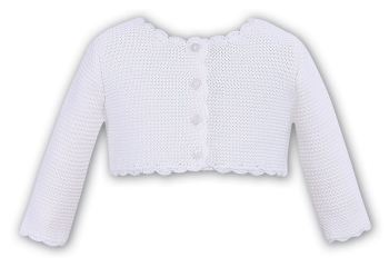 Long sleeved cardigan in white 719