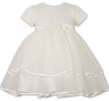 Ivory Embroidered Tulle Christening Dress 70015