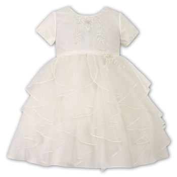 Sarah Louise Tiered Ruffle Ivory Christening Dress 10176