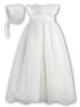 Sarah Louise Organza Gown 1089 in ivory