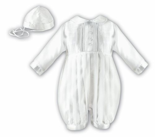 9a7d5cd0f Baby long sleeved baptism romper suit by Sarah Louise 2232 002232