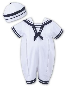 Sailor style romper and hat set Sarah Louise 10813