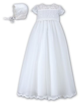 Beautiful white lace christening gown Sarah Louise 1095