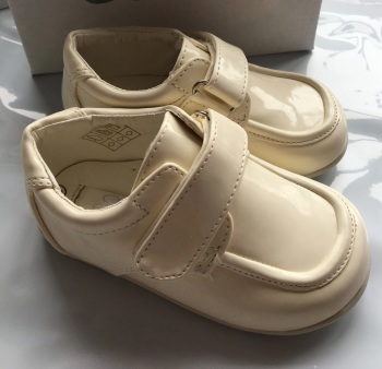 Sevva Cream Boys Patent Walker Christening shoes 17126