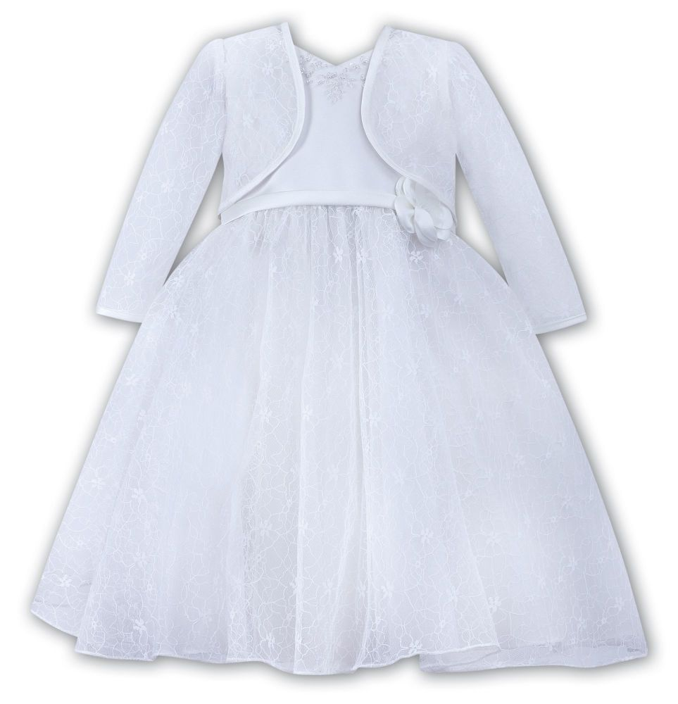 White Lace Christening dress & Jacket 70068