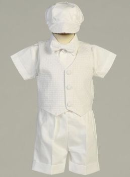 Dexter Boys White Polycotton Shorts Set