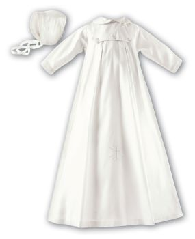 Silk Christening Gown for Boys with Long Sleeves 1177