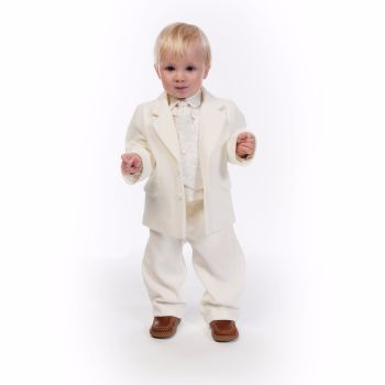 Cream boys 5 piece Christening Suit by Sarah Louise 245