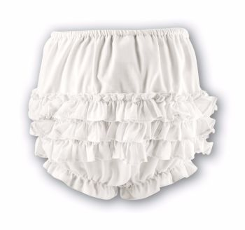 Frilly Knickers in Ivory or White by Sarah Louise - 760