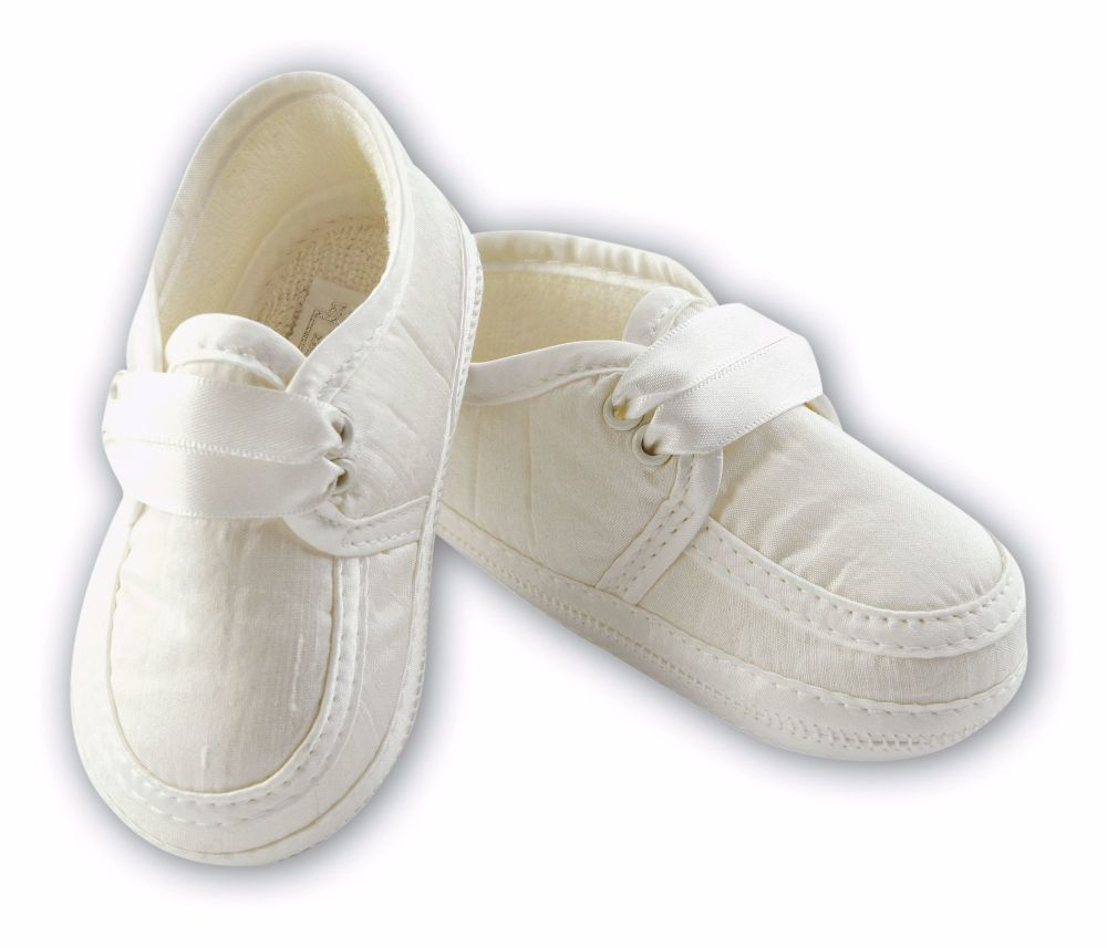 Baby Boys Silk or Satin Christening Shoes 4477