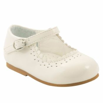 Cream Patent Mary Jane Toddler Shoes Emma