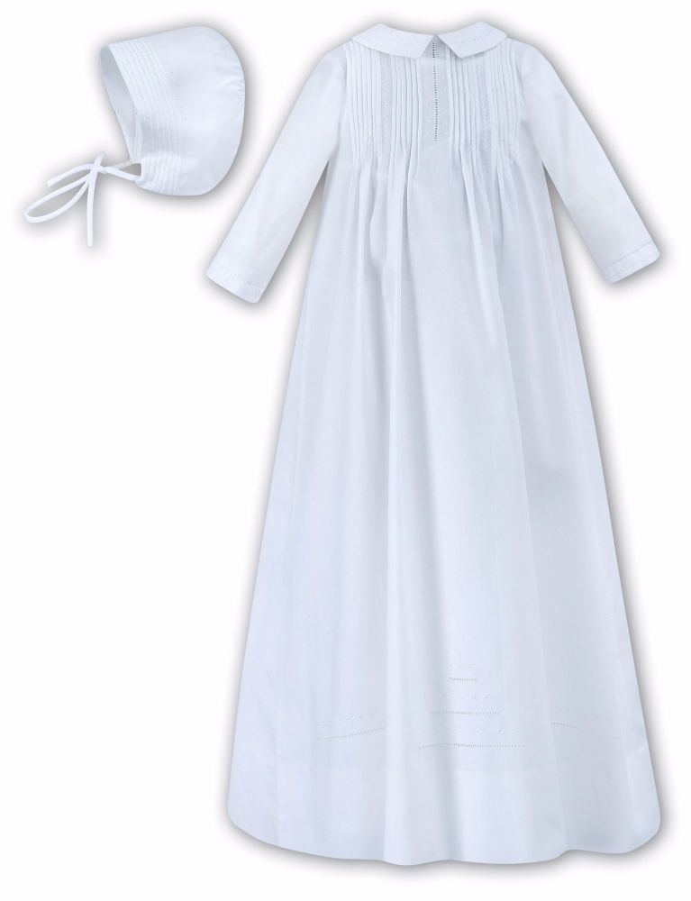1282308a3 White baby gender neutral unisex christening gown Sarah Louise 1175 001175