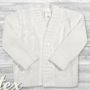 White Cable Knit Cardigan
