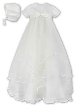 NEW Pretty Ivory Christening gown & bonnet Sarah Louise 1096