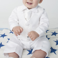 Boys Christening Suit in White - Baby to Toddler