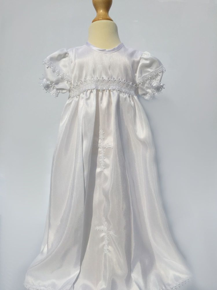 Baby Girls Ivory Christening Gown With Bonnet