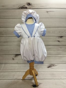 'Ryan' Blue and White  Romper Suit