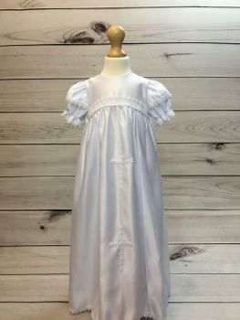 Baby Girls White Christening Gown With Bonnet