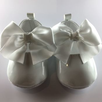 Baby Girls Patent White Occasion Shoes