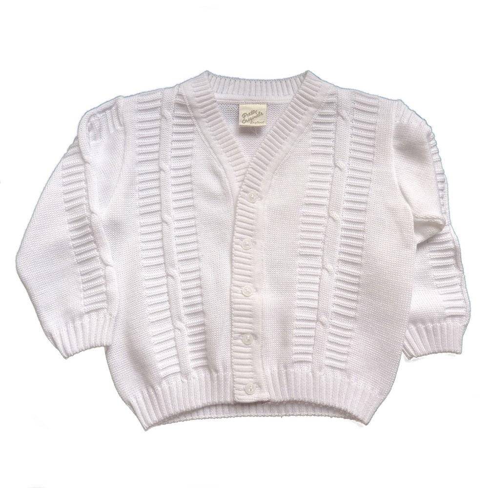 Smart Cotton Cardigan For Boys Christening By Pretty Originals