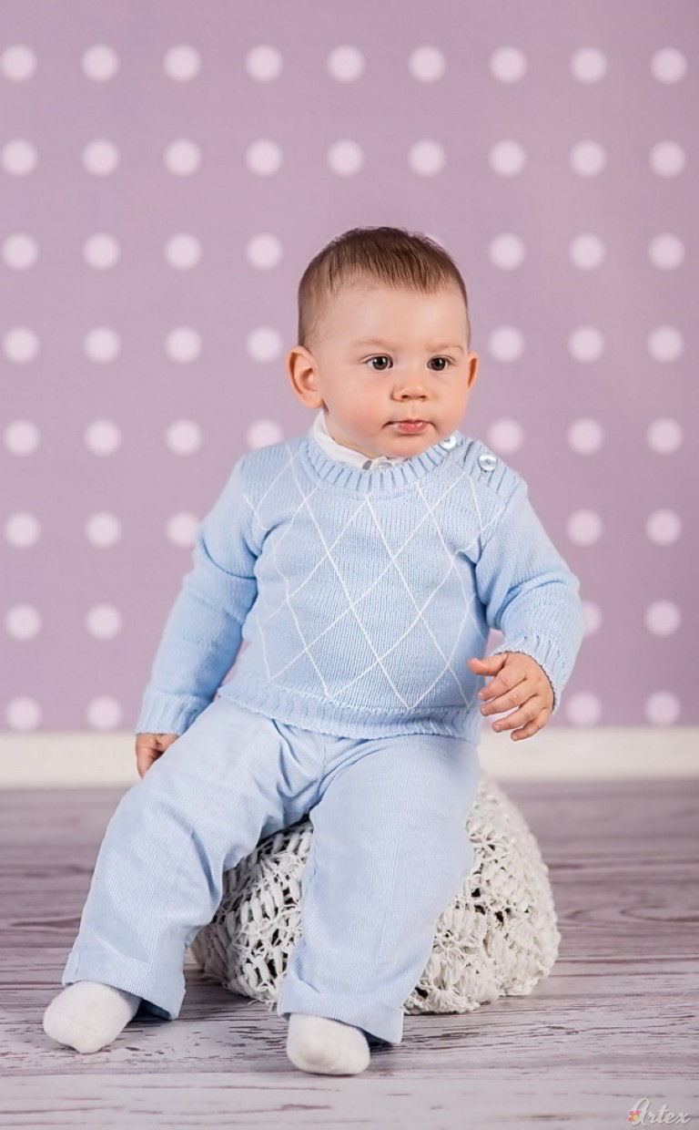 Baby Blue Amp White Argyle 4 Piece Christening Outfit Boys
