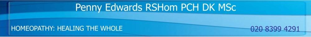 Penny Edwards RSHom PCH DK, site logo.