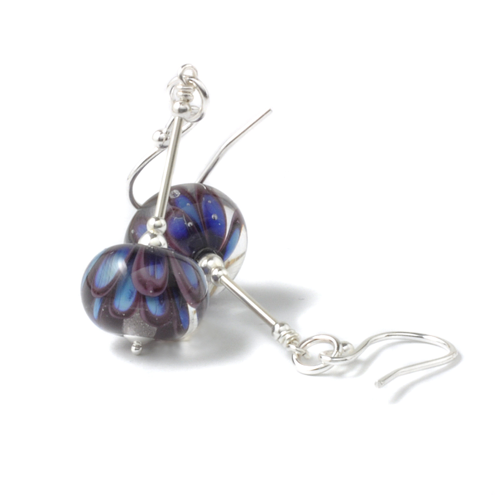 Handmade Lampwork Glass and Silver Earrings