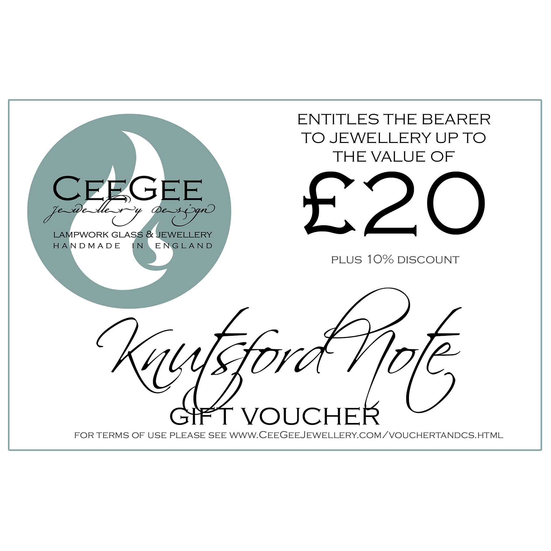Knutsford Note Gift Voucher