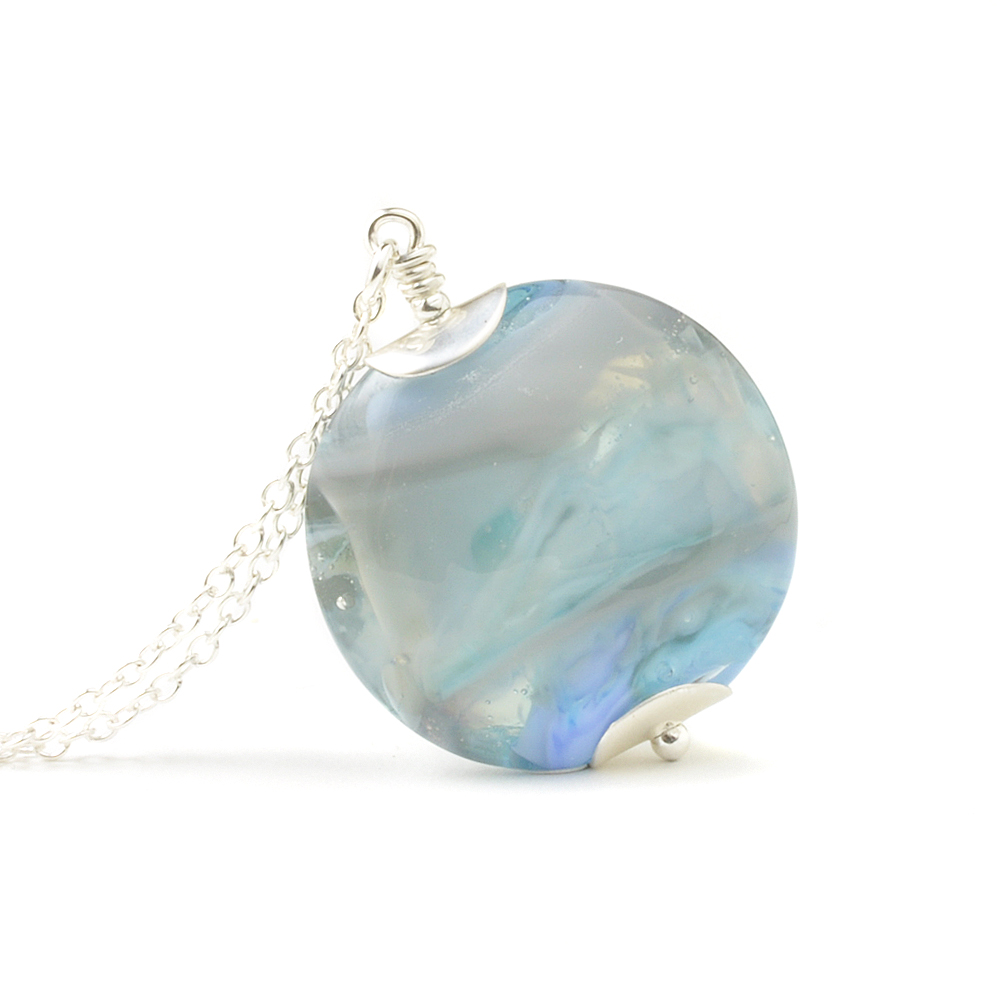 Summer Skies Glass Necklace