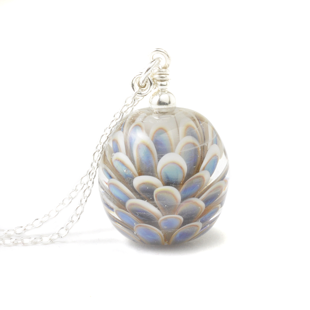 Handmade Long Lampwork Glass Necklace