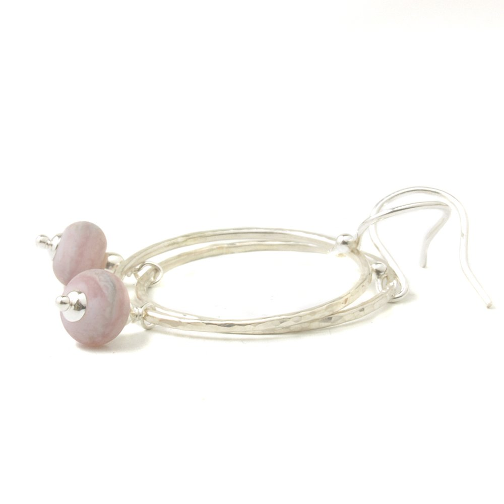Pebble Pink Hoop Earrings